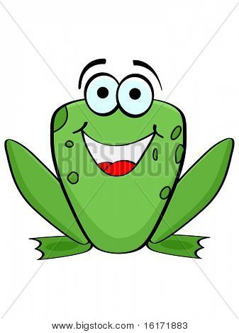 (raster image of vector) frog poster
