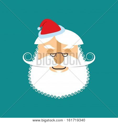 Santa Sleep Emoji. Christmas Dream . Santa Claus With Eyes Closed. Face Avatar Emotion