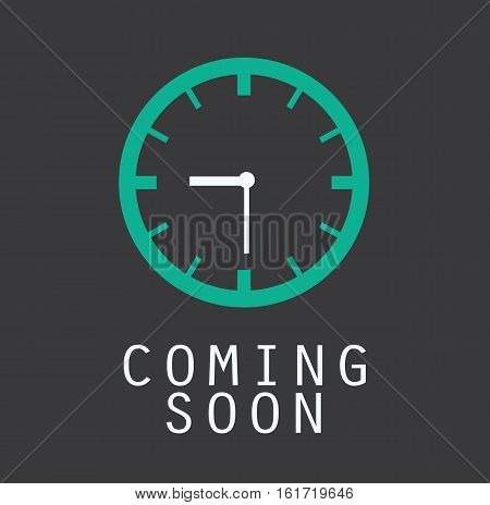 coming soon clock timer countdown design icon vector stock