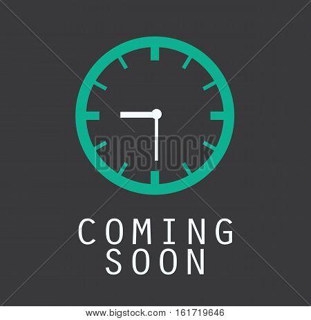 coming soon clock timer countdown design icon vector stock