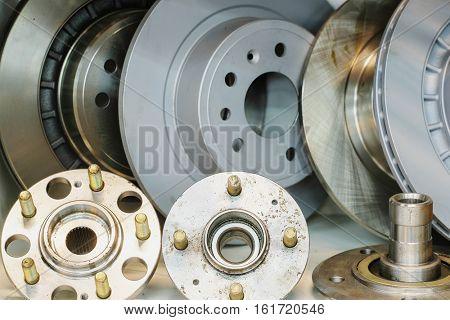 New brake disks of a car