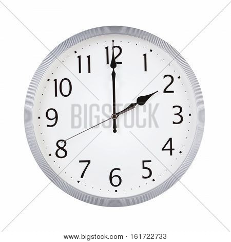 Two o'clock on the dial round clock