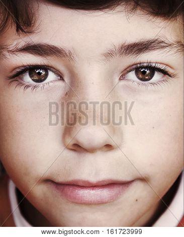 teen slavic european boy close up face portrait