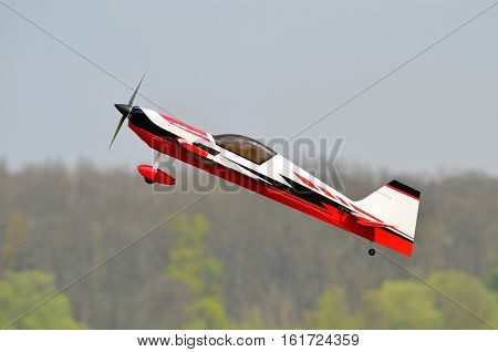 rc replica of plane in stunt mode