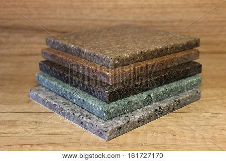 A Few Samples Of Acrylic Artificial Stone