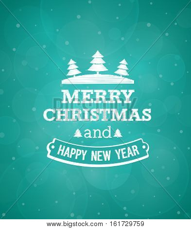 Christmas vintage creative greeting card. Vector illustration.