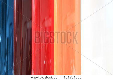 Automotive external paint color samples