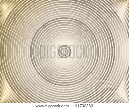 Abstract background with concentric circles grungy. Vector illustration