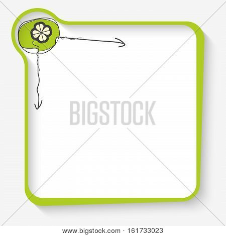 Green frame for your text and cloverleaf symbol