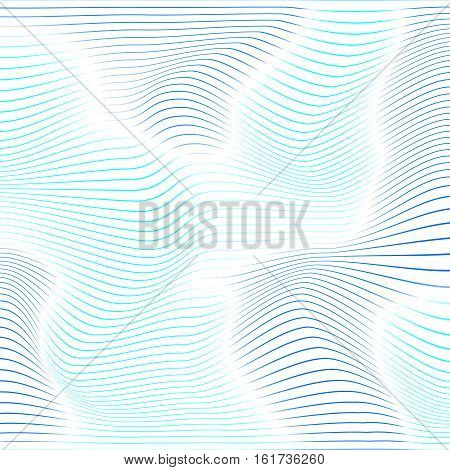 Abstract Background With Blue Distorted Shapes On A White Background.