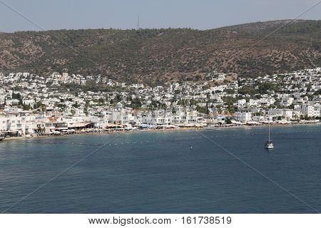 Bodrum Town In Aegean Coast Of Mugla, Turkey