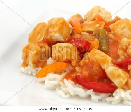 Sweet And Sour Chicken With Rise