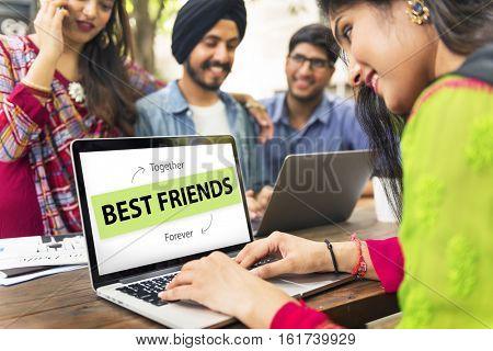 Best Friends Love Partnership Concept
