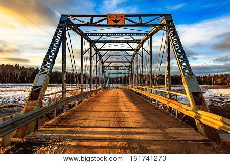 Bridge in Rock Port, New Brunswick, Canada