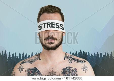 Man Stress Concept