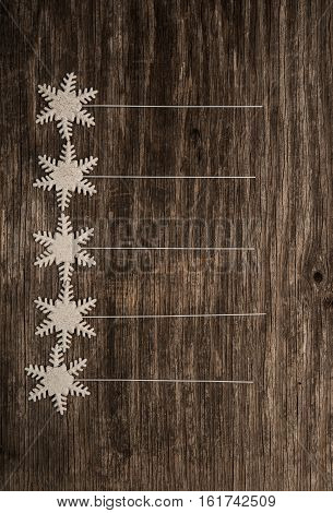 Empty list of New Year resolutions over rustic wood