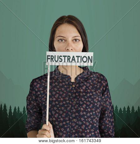 Adult Female Frustration Isolation Concept