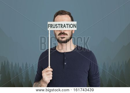 Adult Male Frustration Isolate Concept