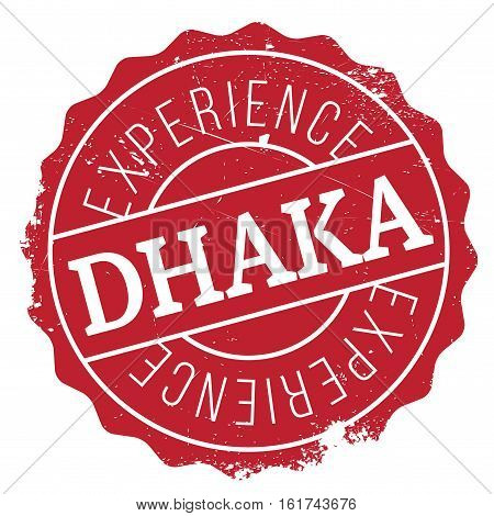 Dhaka stamp. Grunge design with dust scratches. Effects can be easily removed for a clean, crisp look. Color is easily changed.