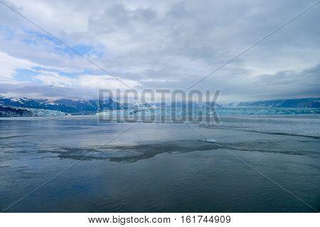 Approaching The Hubbard Glacier In Alaska