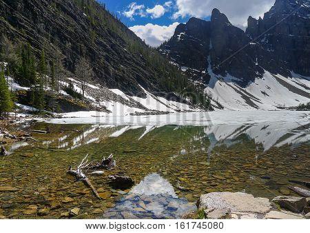 View Of Lake Near Lake Louise In Banff