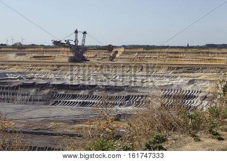 Brown Coal - Bucket Excavator At Opencast Mining Garzweiler (germany)