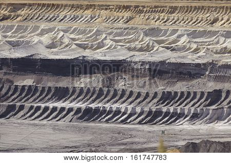 Brown Coal - Layers Of Earth At Opencast Mining Garzweiler (germany)