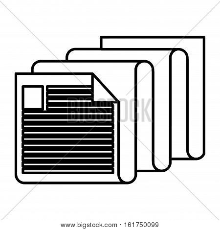 Piece of paper icon. Document data archive office and information theme. Isolated design. Vector illustration