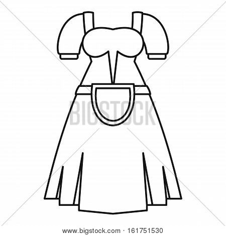 Germany dress icon. Outline illustration of germany dress vector icon for web