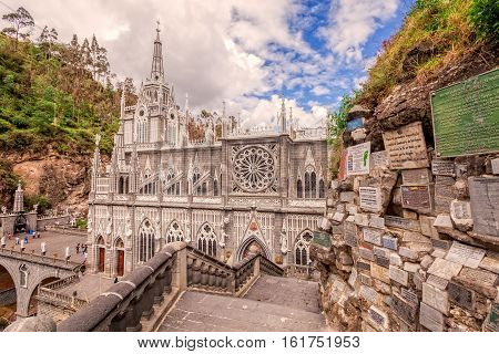 Las Lajas Colombian Catholic Church Built Between 1916 And 1948 Is Topographically The Most Beautiful In The World South America