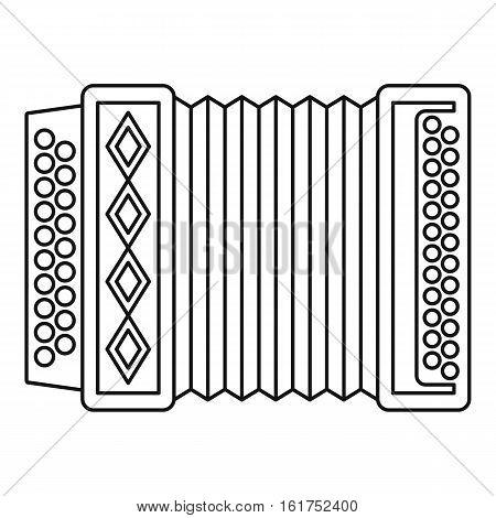 Accordion icon. Outline illustration of accordion vector icon for web