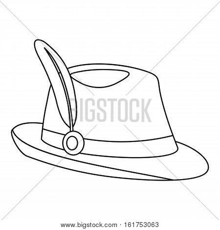 Tirol hat icon. Outline illustration of tirol hat vector icon for web