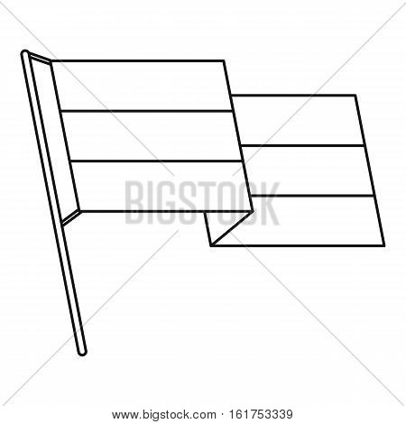 Germany flag icon. Outline illustration of germany flag vector icon for web