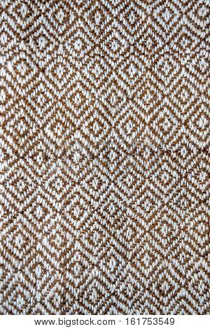 Manual Loom With Lama Wool Hand-spun In Natural Colors