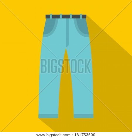 Jeans icon. Flat illustration of jeans vector icon for web
