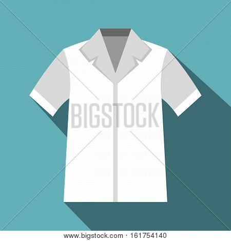 Shirt polo icon. Flat illustration of shirt polo vector icon for web