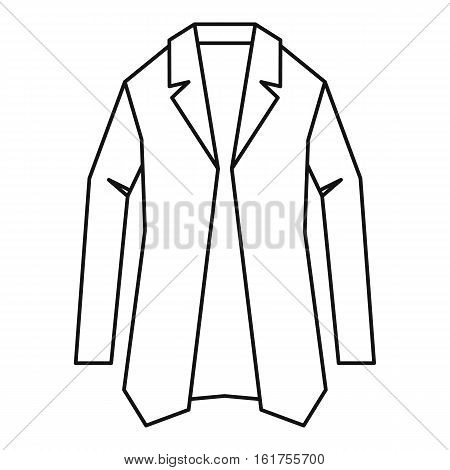 Jacket icon. Outline illustration of jacket vector icon for web