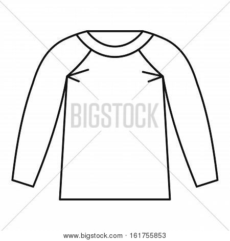 Sports jacket icon. Outline illustration of sports jacket vector icon for web