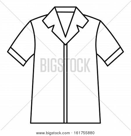 Shirt polo icon. Outline illustration of shirt polo vector icon for web