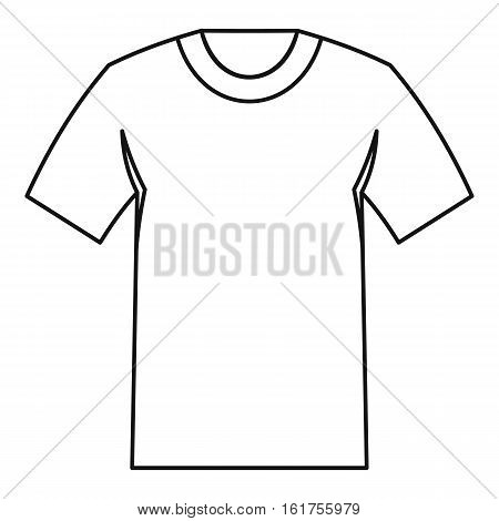 Tshirt icon. Outline illustration of tshirt vector icon for web