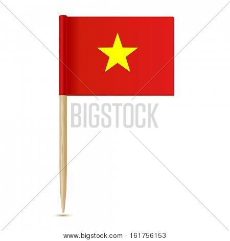 Vietnam flag. Flag toothpick on white background 10eps