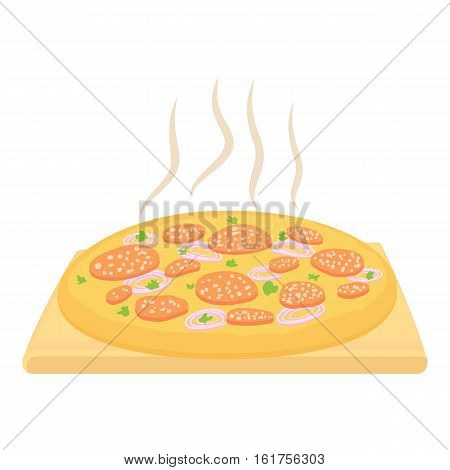 Pizza icon. Cartoon illustration of piza vector icon for web