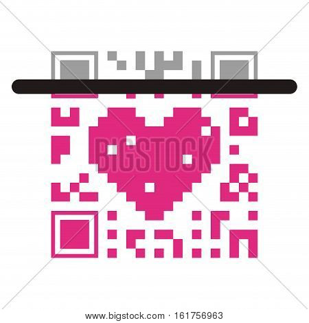 Qr code icon. Scan technology information price and digital theme. Isolated design. Vector illustration