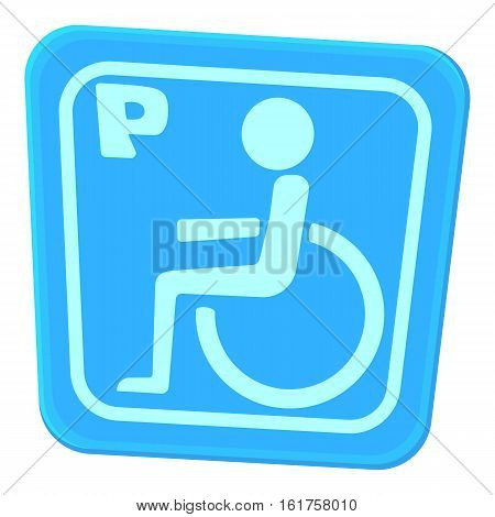 Invalid parking icon. Cartoon illustration of invalid parking vector icon for web