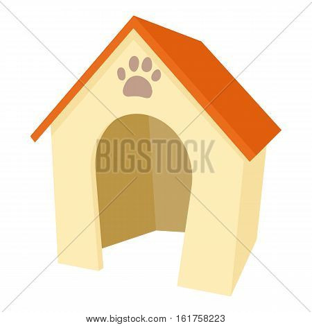 Dog house icon. Cartoon illustration of dog house vector icon for web