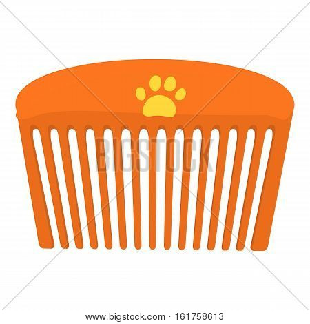 Pet comb icon. Cartoon illustration of pet comb vector icon for web