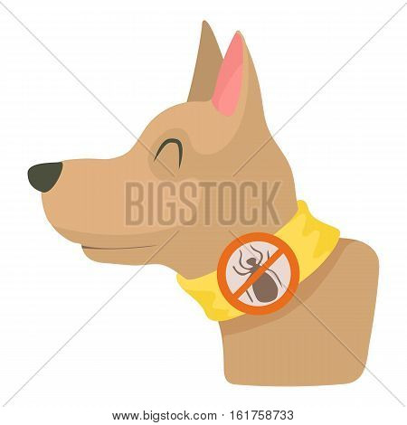 Dog collar icon. Cartoon illustration of dog collar vector icon for web