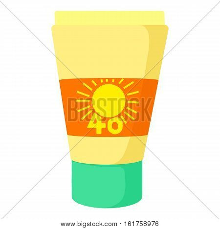 Sunscreen icon. Cartoon illustration of sunscreen vector icon for web