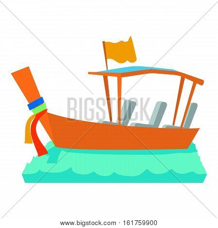 Water taxi icon. Cartoon illustration of water taxi vector icon for web