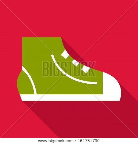 Sneaker icon. Flat illustration of sneaker vector icon for web